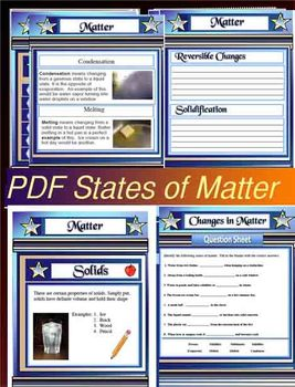 Properties and Changes in States of Matter Science 49 Page PDF File