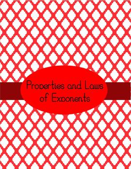 Properties and Laws of Exponents Notes and Practice