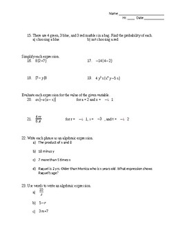 Properties and Probability Review