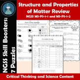 Properties and Structure of Matter Review Puzzles NGSS Ski