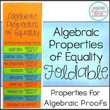 Properties for Algebraic Proofs Foldable - Properties of Equality