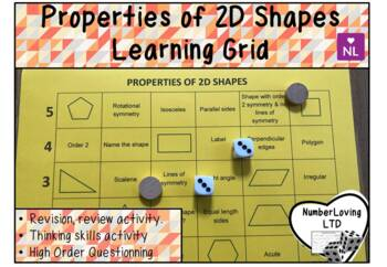 Properties of 2D Shapes (Learning Grid)
