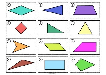 Properties of 2D Shapes - Matching Activity