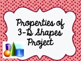 Properties of 3-D Shapes Math Project