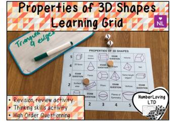 Properties of 3D Shapes (Learning Grid)