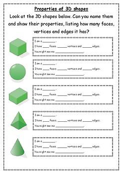 Properties of 3D shape