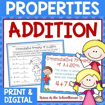 Properties of Addition -  Identity, Associative, and Commutative