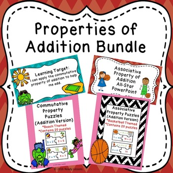 Commutative and Associative Properties of Addition Games and PPT Bundle 1.OA.3