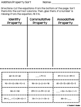Associative, Commutative, and Identity Properties Bundle
