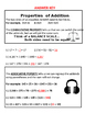 Properties of Addition: Commutative and Associative Practice Sheet
