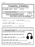 Properties of Addition: Commutative and Associative Practi