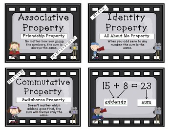 Properties of Addition - Hollywood Theme