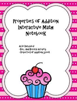 Properties of Addition Interactive Notebook Activities