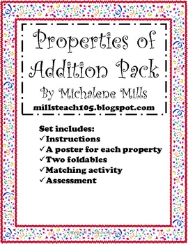 Properties of Addition Pack