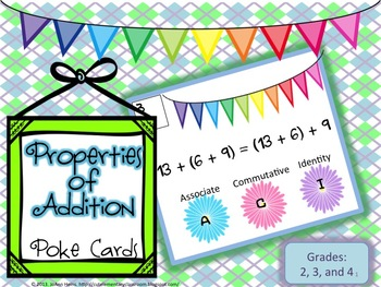 Properties of Addition Poke Cards