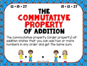 Properties & Strategies of Addition Posters (small and large versions)