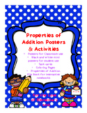 Properties of Addition Posters and Activities