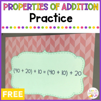 Properties of Addition Practice
