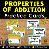 Properties of Addition Practice Cards