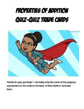 Properties of Addition Quiz Quiz Trade