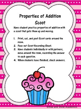 Properties of Addition Scoot