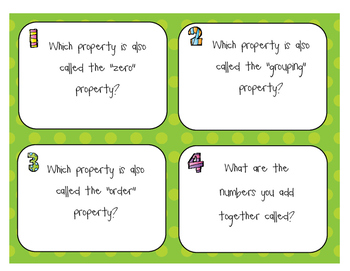 Properties of Addition - Scoot and Posters