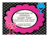 Properties of Addition Super Pack -task cards, powerpoint lesson, and posters