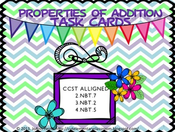Properties of Addition Task Cards