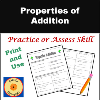 Printables. Commutative Property Worksheet. Messygracebook ...
