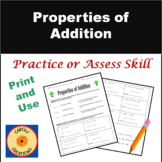Properties of Addition Worksheet