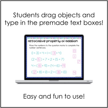 Properties of Addition and Multiplication Digital Activities for Google Drive
