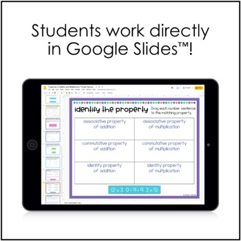 Properties of Addition and Multiplication Digital Activities