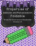 Properties of Addition and Multiplication FOLDABLE