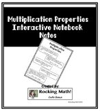 Multiplication Properties Interactive Notebook Notes