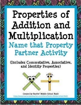 Properties of Addition and Multiplication Partner Practice (CCSS 3.OA.B.5)