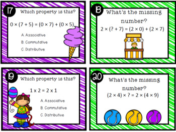 Properties of Addition and Multiplication Review Game for Your Entire Class!