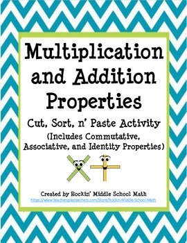 Properties of Addition and Multiplication -  Sorting Activity (CCSS 3.OA.B.5)