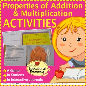 Properties of Addition & Multiplication - Interactive Notebooks & Stations