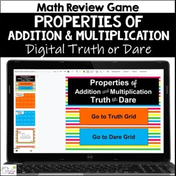 Properties of Addition and Multiplication Truth or Dare for Google Classroom