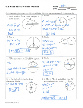 unit 10 circles homework 3 chords and arcs