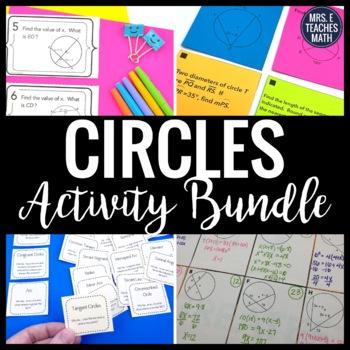 Properties of Circles Activity Bundle
