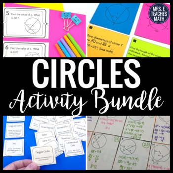 Properties of Circles Activity Bundle