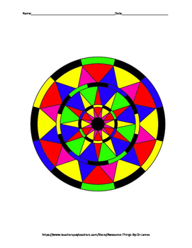 Properties of Circles Color by Number
