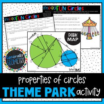Properties of Circles: MegaFun Theme Park; Geometry, Secants, Tangents, Area