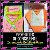 Properties of Congruence Interactive Notebook Page