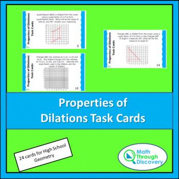 Geometry:  Properties of Dilations Task Cards