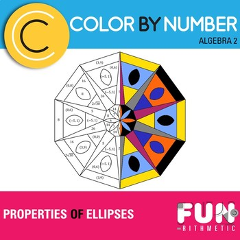 Properties of Ellipses Color by Number