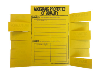 Properties of Equality (Algebra Foldable)