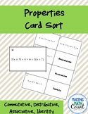 Properties of Equality Card Sort