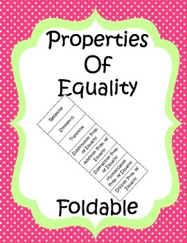Properties of Equality Foldable